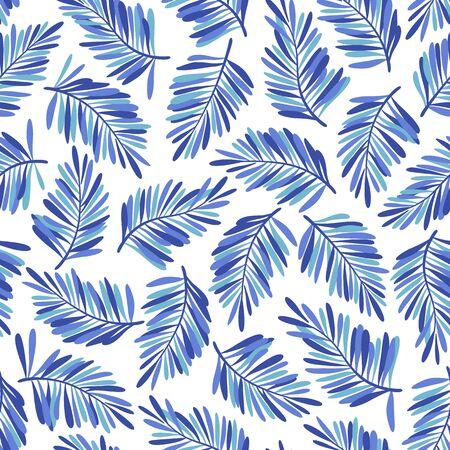 Tropical plant seamless pattern illustration 向量圖像