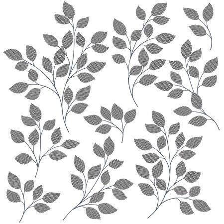 Silhouette Illustration of the Plant Which Is Beautiful with Simplicity,