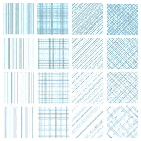 Stripe and the check material which are uneven in seamlessness,