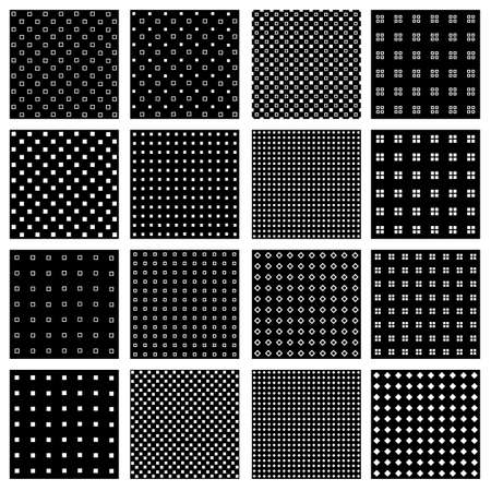 Collection of seamless patterns which are square with unevenness, It is the square that I twisted intentionally, It is consecutive material seamlessly,