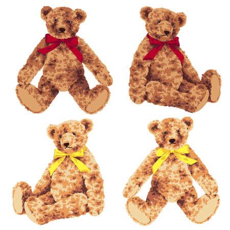 Vector illustration of a pretty bear doll