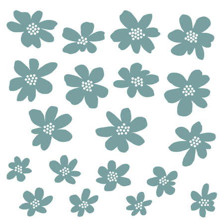 Flower vector illustration material abstract beautifully,I designed a flower abstractly, I worked in vectors,