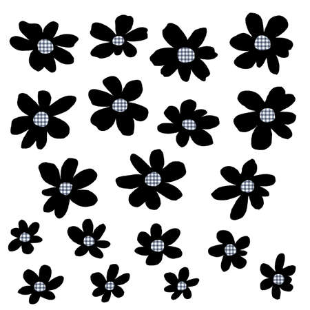 Flower vector illustration material abstract beautifully,I designed a flower abstractly, I worked in vectors, Vettoriali