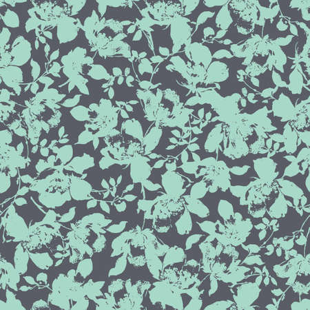 Seamless pattern of a blurred flower, I described flower arrangement in a blurred image,