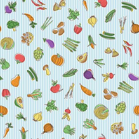 Collection of illustrations of interesting vegetables, I expressed vegetables interestingly,