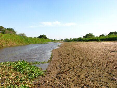 chaco: Palomita Stream Landscape, near Elsa Port, Nanawa City, Lower Chaco, Paraguay