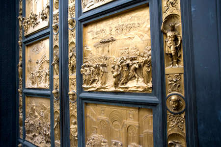 golden door in europe good architecture luxury Stock Photo - 25358239