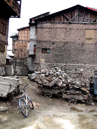 unfortunate:   kashmir house and building may be apartment in the city