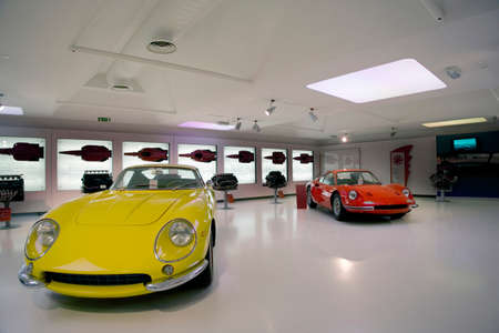 car showroom and old automobile buy and sale  Editorial