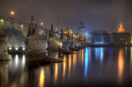 Charles Bridge in Prague Stock Photo