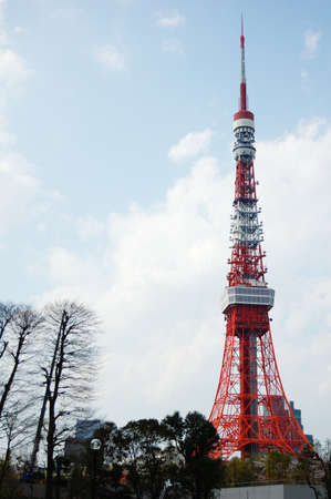 Tokyo tower in spring Editorial