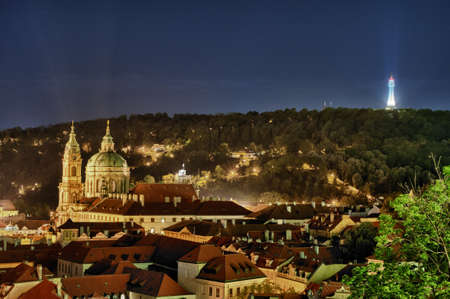 ceska: Prague overview at night Stock Photo