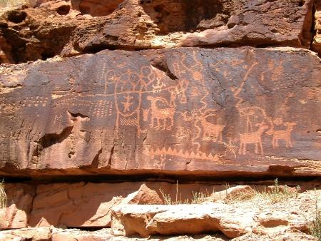 petroglyphs     Stock Photo