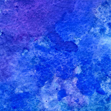 ultramarine: vector blue and ultramarine grunge watercolor hand drawn background Illustration