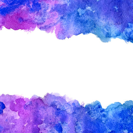 ultramarine: vector banner blue and ultramarine grunge watercolor background with white copy space