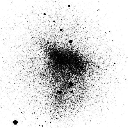 vector grunge splashes black ink background