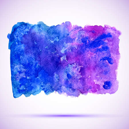 ultramarine: vector watercolor ultramarine and violet grunge background banner with shadow Illustration