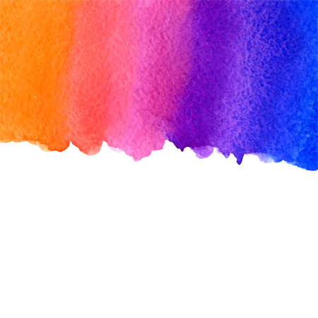 rosy: vector watercolor blue, violet, pink and orange gradient background with bottom copy space