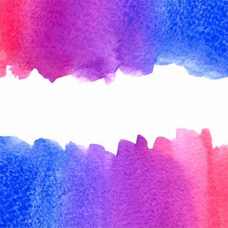 vector watercolor pink, violet and blue gradient background with horizontal copy space Çizim