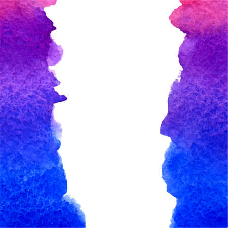 deep pink: vector watercolor deep blue, violet, pink gradient background with vertical copy space
