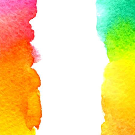 pink green: vector acuarela brillante arco iris de fondo amarillo, naranja, rosa, verde gradiente con el espacio vertical de copia