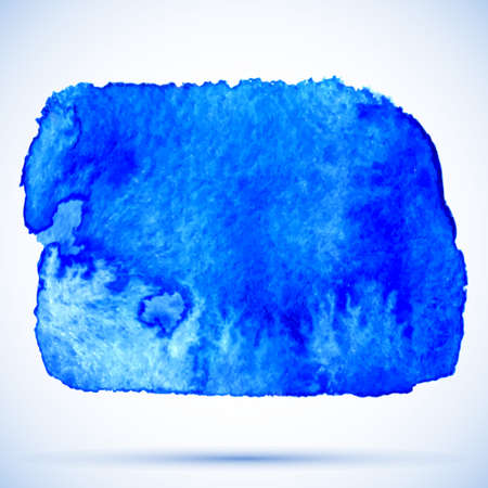 frosted: vector grunge watercolor background frosted blue paint stain with shadow Illustration
