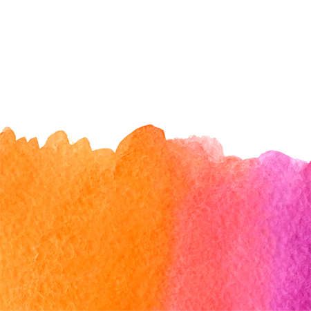 rosy: vector watercolor pink and orange gradient background with top white copy space