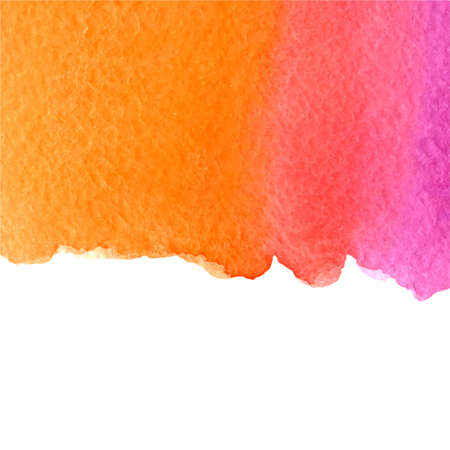 vector watercolor pink and orange gradient background with bottom white copy space