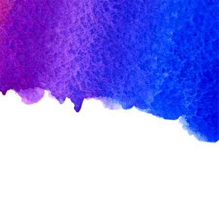 ultramarine: vector watercolor ultramarine and violet gradient background with bottom copy space Illustration