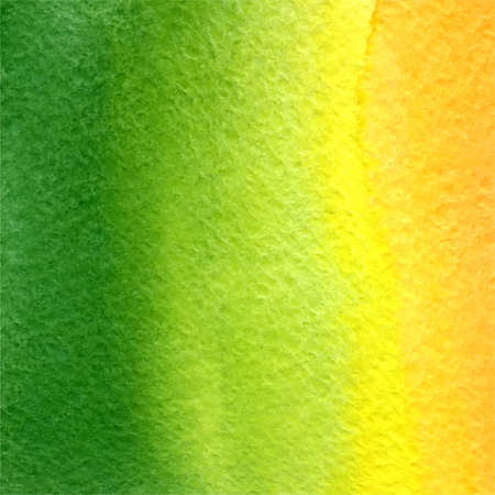 vector watercolor green, yellow and orange gradient background