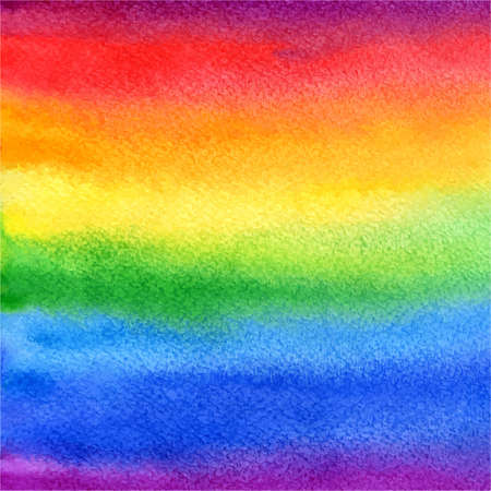 vector watercolor abstract rainbow background in colorful and bright colors Vector
