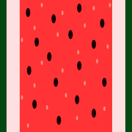 Vector seamless vertical red and green pattern. Fresh watermelon texture for fabric, textile and surface design. Simple and colorful illustration for the National Watermelon Day. Stock Illustratie