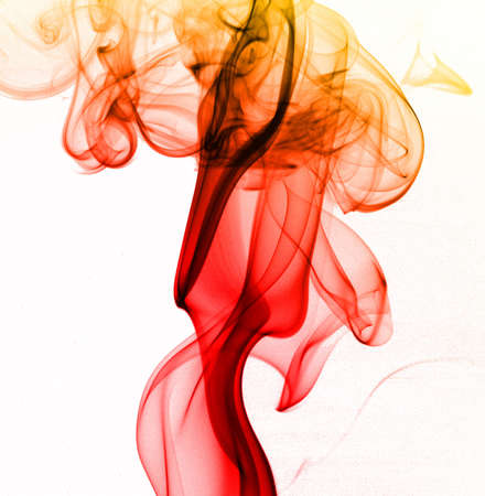 smoke plume from incense stick photo
