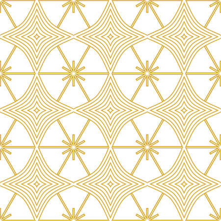 Fortuna Gold decorative seamless pattern print background Illustration
