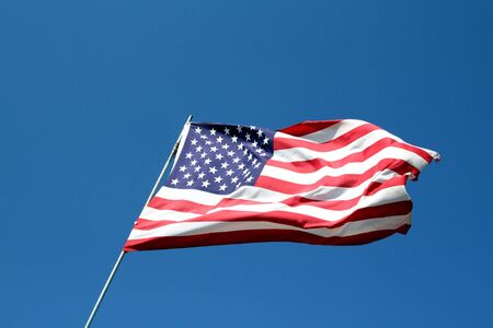 Looking up at the proud stars and stripes of America. Stock Photo - 2923589