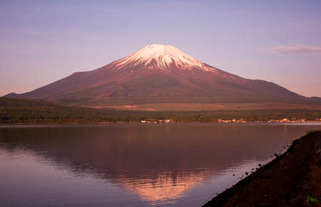Morning red Fuji