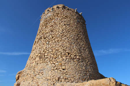 genoese: Genoese tower in Ile Rousse, Corse, France.