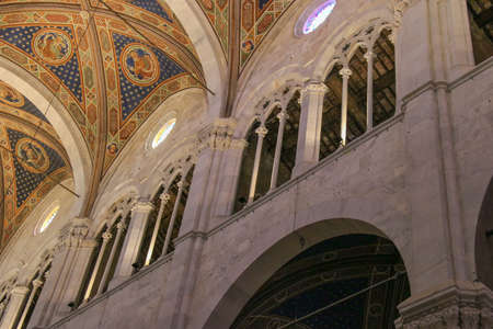 Italy, Lucca - September 18 2016: detail interior view of Lucca Cathedral. Cattedrale di San Martino on September 18 2016 in Lucca, Tuscany, Italy.