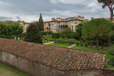Italy, Lucca - September 18 2016: the view of Palazzo Pfanner on September 18 2016 in Lucca, Tuscany, Italy. Editorial