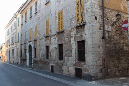 Italy, Lombardy - December 24 2017: the view of an old building on Via Musei in Brescia on December 24 2017, Lombardy, Italy. 写真素材 - 133709462