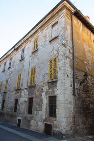 Italy, Lombardy - December 24 2017: the view of an old building on Via Musei in Brescia on December 24 2017, Lombardy, Italy. 写真素材 - 133709463