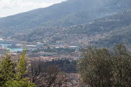 The view on the port city La Spezia, Liguria, Italy. 写真素材