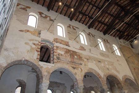 Italy, Brescia - December 24 2017: the internal view of San Salvatore Monastery of Santa Giulia museum on December 24 2017 in Brescia, Lombardy, Italy.