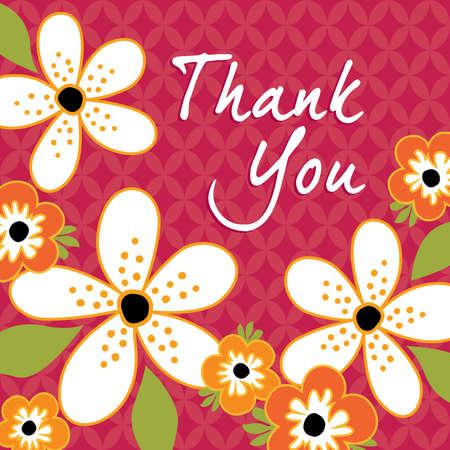 flores de cumpleaños: Modelo de la tarjeta de felicitación floral de la vendimia con lindas flores retro sobre fondo de textura Vectores