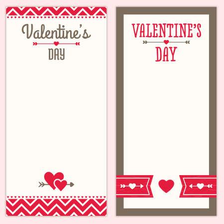 Ensemble de motifs hippie de fond pour le menu Saint Valentin, invitation ou liste d'achats modèles