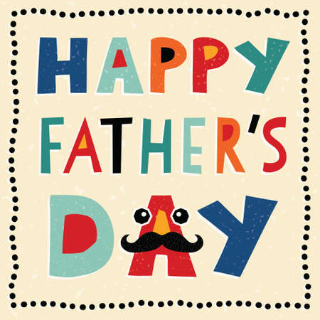Greeting card template for Father