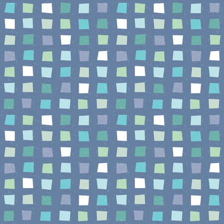 Seamless vector hipster geometric background pattern with polygons in aqua blue navy and white. Masculine pattern for gift wrapping paper textiles and scrapbooking. Light grunge overlay. Ilustrace