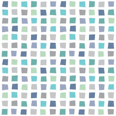 アクア ブルー グリーン海軍内のポリゴンにシームレスなベクトル ヒップスター幾何学的背景パターン。男の子の赤ちゃんギフト包装紙繊維とスク