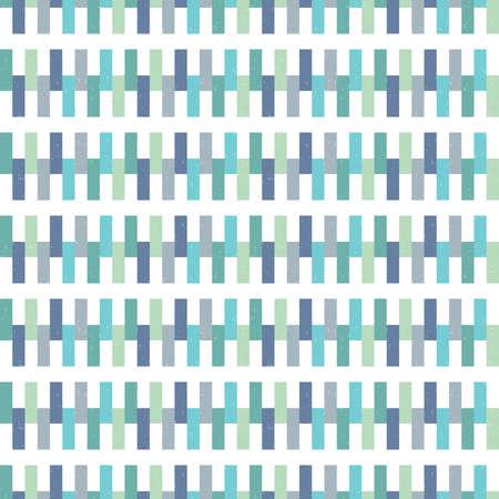 fondo para bebe: Vector inconformista Modelo incons�til del fondo geom�trico en azul aqua y marino verde blanco. Patr�n masculino para ni�os beb�s de regalo de papel de envolver textiles y scrapbooking. Superposici�n grunge Luz.