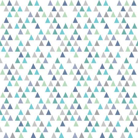 azul marino: Vector inconformista geométrica patrón de fondo sin fisuras con las mini triángulos en azul agua marina de la menta verde y blanco. Patrón masculino para los niños de regalo de papel de envolver textiles y scrapbooking. Superposición grunge Luz.